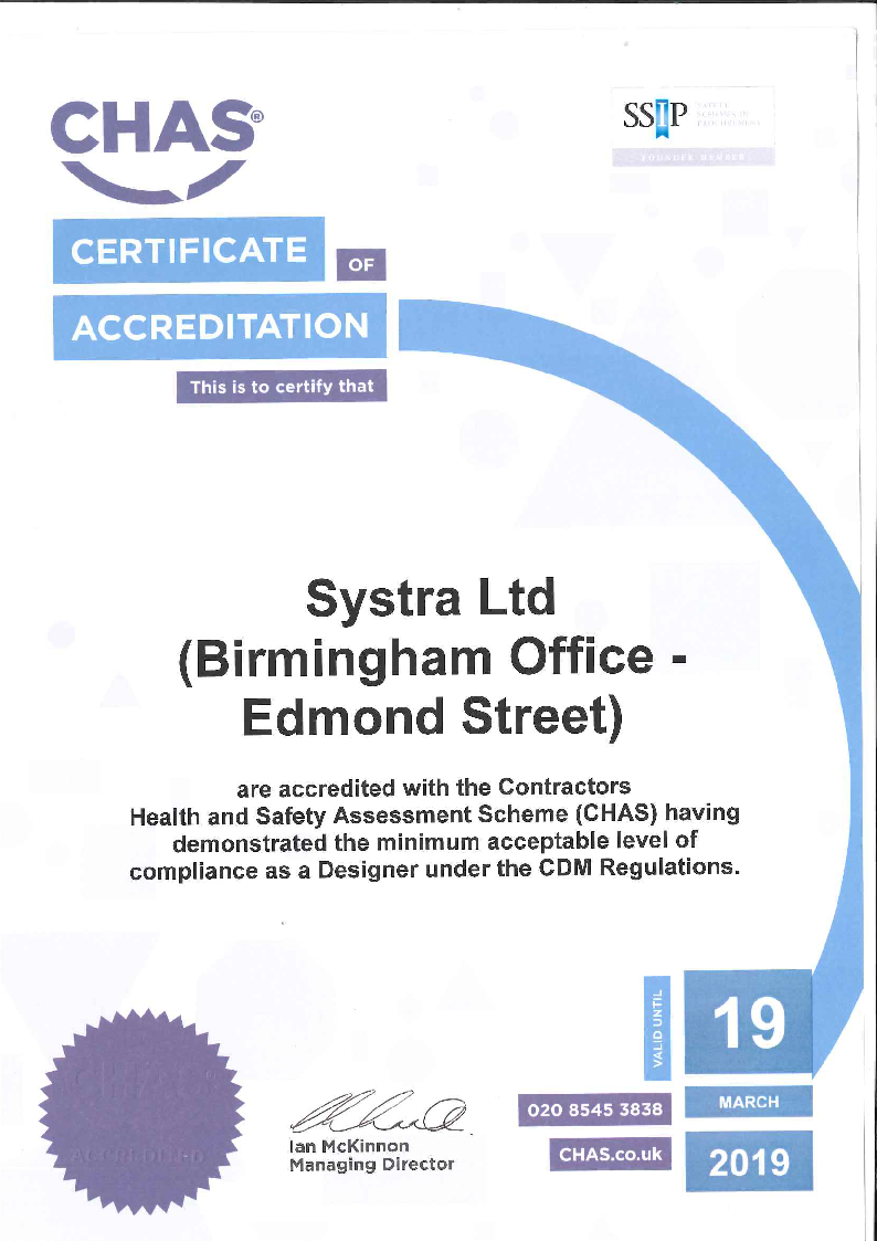 Certification Systra Ireland A Consulting And Engineering Firm